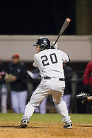 Jack Carey (20) of the Wake Forest Demon Deacons at bat against the Davidson Wildcats at Wilson Field on March 19, 2014 in Davidson, North Carolina.  The Wildcats defeated the Demon Deacons 7-6.  (Brian Westerholt/Four Seam Images)
