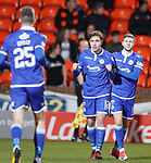 20.3.2018: Dundee Utd v Queen of the South<br /> Joe Thomson celebrates his opening goal