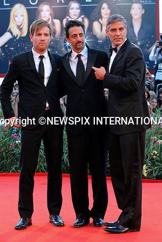 "GEORGE CLOONEY, EWAN McGREGOR AND HESLOV GRANT.""The Men Who Stare at Goats"" photocall at the  66th Venice Film Festival , Venice_08/09/2009.Mandatory Credit Photo: ©NEWSPIX INTERNATIONAL..**ALL FEES PAYABLE TO: ""NEWSPIX INTERNATIONAL""**..IMMEDIATE CONFIRMATION OF USAGE REQUIRED:.Newspix International, 31 Chinnery Hill, Bishop's Stortford, ENGLAND CM23 3PS.Tel:+441279 324672  ; Fax: +441279656877.Mobile:  07775681153.e-mail: info@newspixinternational.co.uk"