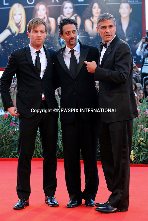 """GEORGE CLOONEY, EWAN McGREGOR AND HESLOV GRANT.""""The Men Who Stare at Goats"""" photocall at the  66th Venice Film Festival , Venice_08/09/2009.Mandatory Credit Photo: ©NEWSPIX INTERNATIONAL..**ALL FEES PAYABLE TO: """"NEWSPIX INTERNATIONAL""""**..IMMEDIATE CONFIRMATION OF USAGE REQUIRED:.Newspix International, 31 Chinnery Hill, Bishop's Stortford, ENGLAND CM23 3PS.Tel:+441279 324672  ; Fax: +441279656877.Mobile:  07775681153.e-mail: info@newspixinternational.co.uk"""