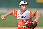 Waterloo pitcher Drake Downing threw a complete game as Waterloo defeated Carbondale in the Class 3A Salem baseball sectional championship game at Salem HS in Salem, IL on Saturday June 1, 2019.<br /> Tim Vizer/Special to STLhighschoolsports.com