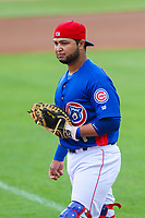 Tennessee Smokies catcher Erick Castillo (16) during a Southern League game against the Biloxi Shuckers on May 25, 2017 at Smokies Stadium in Kodak, Tennessee.  Tennessee defeated Biloxi 10-4. (Brad Krause/Krause Sports Photography)