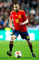 Spain's Jordi Alba  during the qualifying match for Euro 2020 on 23th March, 2019 in Valencia, Spain. (ALTERPHOTOS/Alconada)<br /> Valencia 23-03-2019 <br /> Football Qualifying match Euro2020<br /> Spain Vs Norway <br /> foto Alterphotos/Insidefoto <br /> ITALY ONLY
