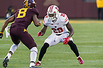 Wisconsin Badgers defensive back Dontye Carriere-Williams (29) defends during an NCAA College Big Ten Conference football game against the Minnesota Golden Gophers Saturday, November 25, 2017, in Minneapolis, Minnesota. The Badgers won 31-0. (Photo by David Stluka)