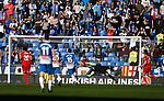Goal Pablo Sarabia, RCD Espanyol 0 v 2 Sevilla FC, Jornada 20, RCDE Stadium, La Liga Santander 2017/2018. Barcelona. Photo Martin Seras Lima