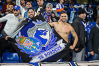 FC Porto Fans ahead of the UEFA Champions League group match between Chelsea and FC Porto at Stamford Bridge, London, England on 9 December 2015. Photo by David Horn / PRiME