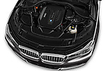 Car Stock 2016 BMW 7-Reeks-Berline 4 Door Sedan Engine  high angle detail view