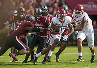 Hawgs Illustrated/BEN GOFF <br /> T.J. Hammonds, Arkansas wide receiver, runs the ball in the first quarter Saturday, Oct. 7, 2017, during the game at Williams-Brice Stadium in Columbia, S.C.