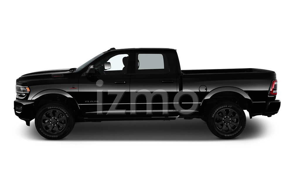Car driver side profile view of a 2019 Ram Ram-2500  Laramie 4 Door Pick Up