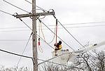 JCP&L Crews work on restoring power in New Providence, New Jersey