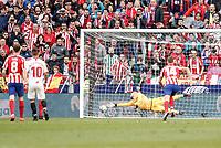 7th March 2020; Wanda Metropolitano Stadium, Madrid, Spain; La Liga Football, Atletico de Madrid versus Sevilla; Alvaro Morata (Atletico de Madrid)  scores to make it (1,1)