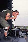 Pantera - vocalist Phil Anselmo - performing live at the Monsters of Rock festival at Castle Donington Leicestershire UK - 04 Jun 1994.  Photo credit: George Chin/IconicPix