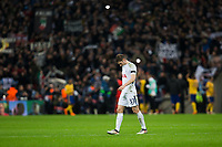 Tottenham Hotspur's Ben Davies looks dejected at full time <br /> <br /> Photographer Craig Mercer/CameraSport<br /> <br /> UEFA Champions League Round of 16 Second Leg - Tottenham Hotspur v Juventus - Wednesday 7th March 2018 - Wembley Stadium - London <br />  <br /> World Copyright &copy; 2017 CameraSport. All rights reserved. 43 Linden Ave. Countesthorpe. Leicester. England. LE8 5PG - Tel: +44 (0) 116 277 4147 - admin@camerasport.com - www.camerasport.com