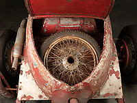 BNPS.co.uk (01202 558833)<br /> Pic: AshleyBorder/ThornleyKelham<br /> <br /> A classic Alfa Romeo bought from new by Italian dictator Benito Mussolini has been uncovered 90 years later.<br /> <br /> The Alfa 6C 1750 Super Sport dates back to 1930 when its first owner was the notorious fascist who was the Italian Prime Minister at the time.<br /> <br /> He kept the motor for a number of years before selling it some time prior to the outbreak of WWII