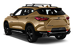 Car pictures of rear three quarter view of 2019 Chevrolet Blazer RS 5 Door SUV Angular Rear