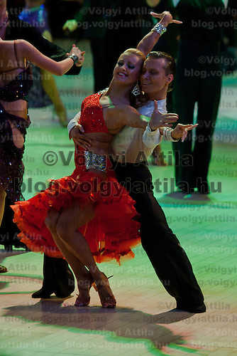 Andriy Babiy and Irina Dengyna from Ukraine perform their dance during the professional latin-american competition of the Blacpool Dance Festival that is the most famous event among dance competiptions held in Blackpool, United Kingdom on June 01, 2011. ATTILA VOLGYI