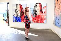 SANTA MONICA - JUN 25: Serena Laurel at the David Bromley LA Women Art Exhibition opening reception at the Andrew Weiss Gallery on June 25, 2016 in Santa Monica, California