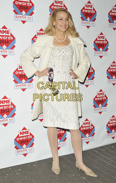 LONDON, ENGLAND - FEBRUARY 26: Jerry Hall attends the NME Awards 2014, O2 Academy Brixton, Stockwell Rd., on Wednesday February 26, 2014 in London, England, UK.<br /> CAP/CAN<br /> &copy;Can Nguyen/Capital Pictures