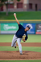 AZL Brewers starting pitcher Cam Robinson (35) delivers a pitch to the plate against the AZL Giants on August 15, 2017 at Scottsdale Stadium in Scottsdale, Arizona. AZL Giants defeated the AZL Brewers 4-3. (Zachary Lucy/Four Seam Images)