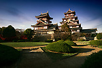Fushimi or Fushimi-Momoyama castle historic buildings. Japanese castle in Fushimi ward, Kyoto, Japan 2017