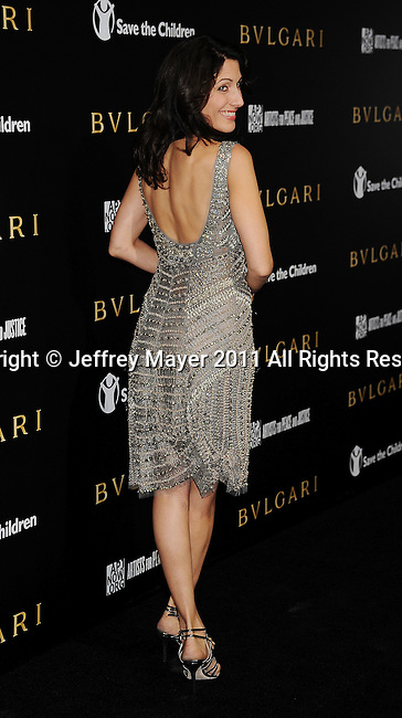 LOS ANGELES, CA - January 13: Lisa Edelstein attends Save The Children's U.S. Programs And Artists For Peace And Justice Hosted By Bulgari at Ron Burkle's Green Acres Estate on January 13, 2011 in Beverly Hills, California.