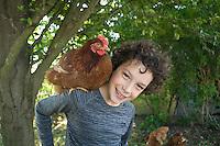 homeschooling, educazione parentale, edoardo e la gallina