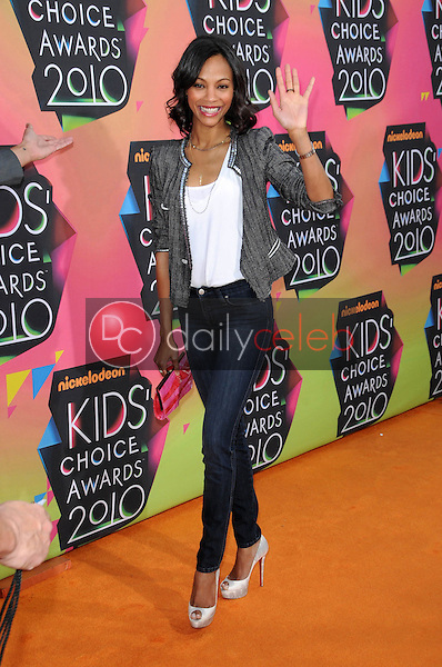 Zoe Saldana<br /> at the Nickelodeon's 23rd Annual Kids' Choice Awards, UCLA's Pauley Pavilion, Westwood, CA 03-27-10<br /> David Edwards/DailyCeleb.com 818-249-4998