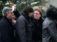 Tulllio De Piscopo partecipa ai funerali  di  Pino Daniele al santuario del divino amore di Roma