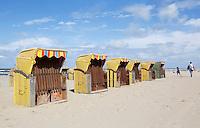 Nederland Egmond. Strandstoelen in Egmond aan Zee
