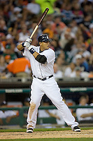 Miguel Cabrera #24 of the Detroit Tigers at bat versus the New York Yankees at Comerica Park April 27, 2009 in Detroit, Michigan.  Photo by Brian Westerholt / Four Seam Images