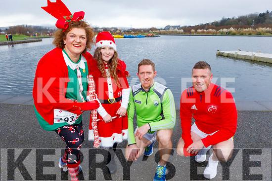 Louise Porter, Eden Ryan, Brian and Brendan O'Sullivan at the Fiona Moore Memorial 5k Fun Run in the Tralee Bay Wetlands on Sunday morning.