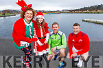 Louise Porter, Eden Ryan, Brian and Brendan O'Sullivan at the Fiona Moore Memorial 5k Fun Run in the Tralee Bay Wetlands on Sunday morning.