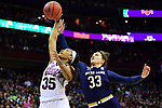 COLUMBUS, OH - APRIL 1: Victoria Vivians #35 of the Mississippi State Bulldogs grabs a rebpound away from Kathryn Westbeld #33 of the Notre Dame Fighting Irish during the championship game of the 2018 NCAA Division I Women's Basketball Final Four at Nationwide Arena in Columbus, Ohio. (Photo by Ben Solomon/NCAA Photos via Getty Images)
