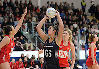 08.02.2017 New Zealand's Maia Wilson in action during the Wales v Silver Ferns netball test match at Swansea University at Ice Arena Wales. Mandatory Photo Credit ©Ian Cook/Michael Bradley Photography.