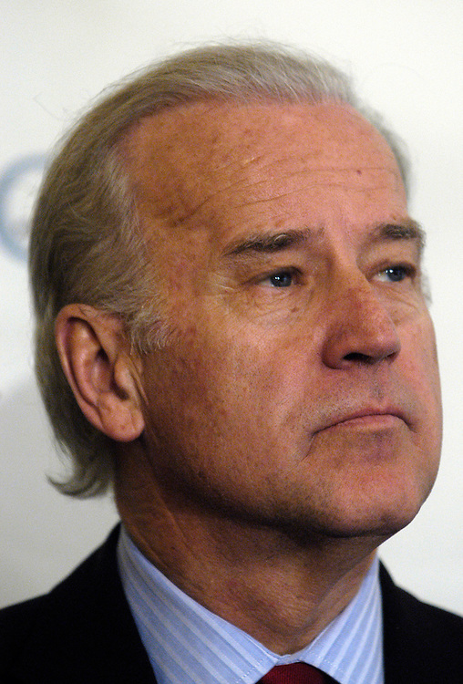 Sen. Joseph Biden, D-De., speaks at the National Press Club for Sports Illustrated's first annual SI Champion Award to the Oregon Health and Science University's ATLAS and ATHENA programs for their anti-steriod and drug programs.
