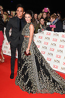 Gareth Gates and Faye Brookes<br /> at the National TV Awards 2017 held at the O2 Arena, Greenwich, London.<br /> <br /> <br /> ©Ash Knotek  D3221  25/01/2017