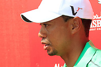 Tiger Woods (USA) after finishing his match during Thursday's Round 1 of the HSBC Golf Championship at the Abu Dhabi Golf Club, United Arab Emirates, 26th January 2012 (Photo Eoin Clarke/www.golffile.ie)