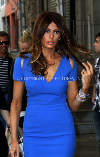 WWW.ACEPIXS.COM....April 9 2013, New York City....Melania Trump made an appearance at the Wendy Williams show on April 9 2013 in New York City....By Line: Zelig Shaul/ACE Pictures......ACE Pictures, Inc...tel: 646 769 0430..Email: info@acepixs.com..www.acepixs.com