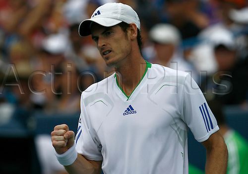 21.08.2011..Andy Murray [GBR] reacts at the Western & Southern Open at the Lindner Family Tennis Center in Mason, Ohio...Djokovic retired from the match against Andy Murray [GBR] ending his tournament winning streak.
