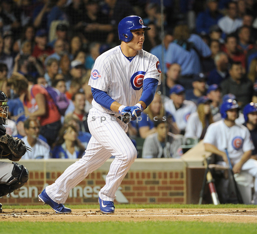Chicago Cubs Anthony Rizzo (44) during a game against the Milwaukee Brewers on September 15, 2016 at Wrigley Field in Chicago, IL. The Brewers beat the Cubs 5-4.