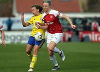 Louise Quinn of Arsenal Women and Charlie Wellings of Birmingham City Women  during Arsenal Women vs Birmingham City Ladies, FA Women's Super League Football at Meadow Park on 4th November 2018