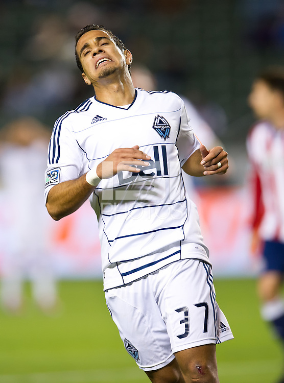 CARSON, CA - March 17, 2012: Vancouver Whitecaps FC midfielder Camilo (37) during the Chivas USA vs Vancouver Whitecaps FC match at the Home Depot Center in Carson, California. Final score Vancouver Whitecaps 1, Chivas USA 0.