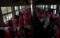 HAVANA, CUBA - APRIL 5: Cuban passengers during a trip from Havana to Santiago de Cuba on April 5, 2018.. in Cuba. Ferrocarriles de Cuba, is one of the oldest railroad around world, having opened its first route in 1837 with at least 17-mile long. Now the railway probably could cover more than 2,600 miles along the Island.  (Photo by Eliana Aponte/VIEWpress)