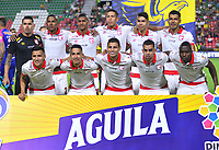 IBAGUE - COLOMBIA, 04-08-2019: Jugadores del Santa Fe posan para una foto previo al partido entre Deportes Tolima e Independiente Santa Fe por la fecha 4 de la Liga Águila II 2019 jugado en el estadio Manuel Murillo Toro de la ciudad de Ibagué. / Players of Santa Fe pose to a photo prior match between Deportes Tolima and Independiente Santa Fe for the date 4 as part of Aguila League II 2019 played at Manuel Murillo Toro stadium in Ibague. Photo: VizzorImage / Juan Carlos Escobar / Cont