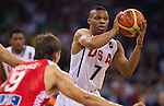 28.08.2010, Abdi Ipekci Arena, Istanbul, TUR, 2010 FIBA World Championship, USA vs Croatia, im Bild Russel Westbrook of USA during to the Preliminary Round, EXPA Pictures © 2010, PhotoCredit: EXPA/ Sportida/ Vid Ponikvar *** ATTENTION *** SLOVENIA OUT!