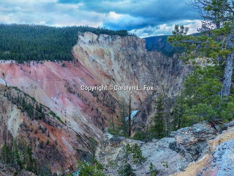 The canyon walls at the Grand Canyon of the Yellowstone are beautiful.