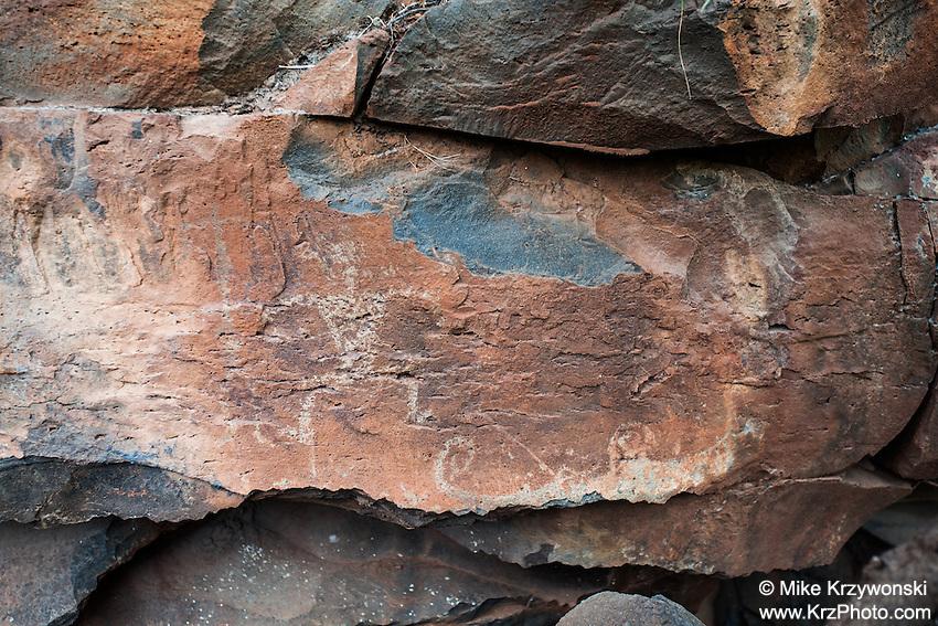 Hawaiian petroglyphs, Olowalu, Maui