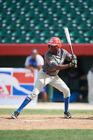 Jiter Heredia (9) during the Dominican Prospect League Elite Underclass International Series, powered by Baseball Factory, on July 31, 2017 at Silver Cross Field in Joliet, Illinois.  (Mike Janes/Four Seam Images)