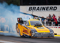 Aug 19, 2018; Brainerd, MN, USA; NHRA funny car driver J.R. Todd during the Lucas Oil Nationals at Brainerd International Raceway. Mandatory Credit: Mark J. Rebilas-USA TODAY Sports