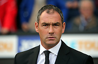 Swansea manager Paul Clement stands on the touch line during the Premier League match between Swansea City and Watford at The Liberty Stadium, Swansea, Wales, UK. Saturday 23 September 2017